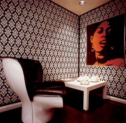 DAVID HICKS INTERIOR DESIGNER WALLPAPER PRINT ROOM