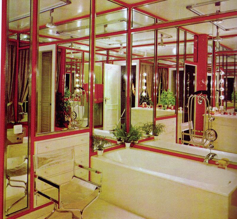 DAVID HICKS INTERIOR DESIGNER MIRROR BATHROOM