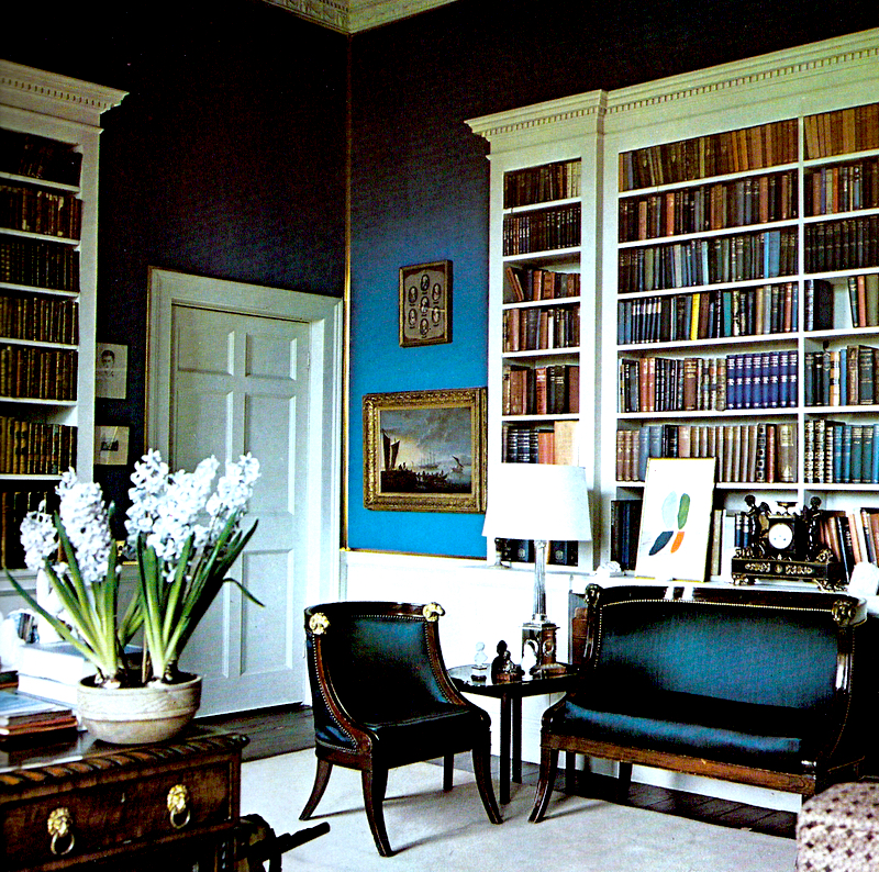 DAVID HICKS INTERIOR DESIGNER BLUE STUDY