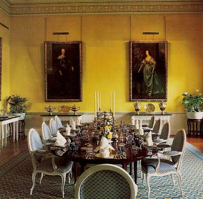 DAVID HICKS INTERIOR DESIGNER BROADLANDS DINING ROOM