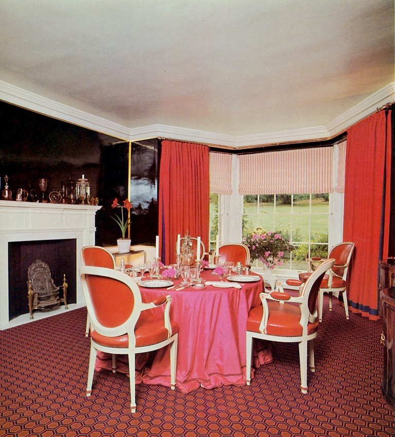 DAVID HICKS INTERIOR DESIGNER DINING ROOM PINK
