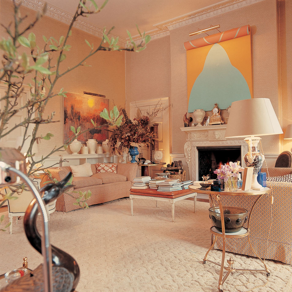 DAVID HICKS INTERIOR DESIGNER LIVING ROOM