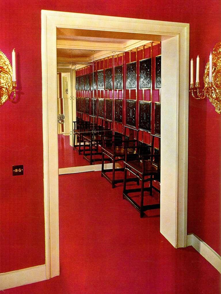 DAVID HICKS INTERIOR DESIGNER RED DRESSING ROOM