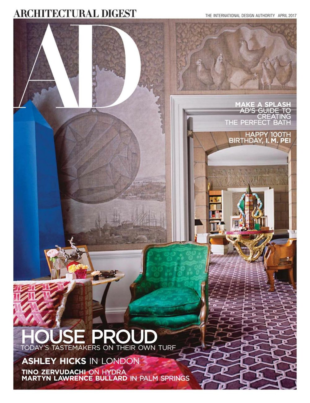 ARCHITECTURAL DIGEST APRIL 2017 ASHLEY HICKS