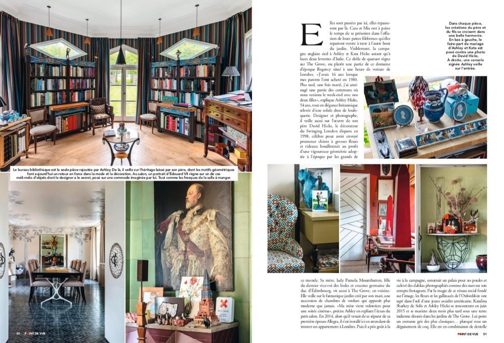 POINT DE VUE magazine ashley hicks katalina hicks