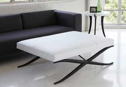 X-FRAME OTTOMAN ASHLEY HICKS FURNITURE