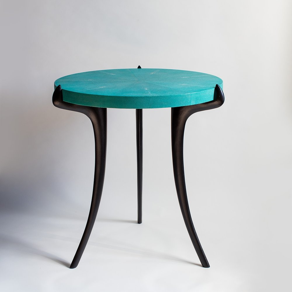 SHAGREEN SABRE TABLE 60 ASHLEY HICKS FURNITURE