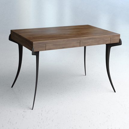 SABRE WALNUT-TOP DESK ASHLEY HICKS FURNITURE