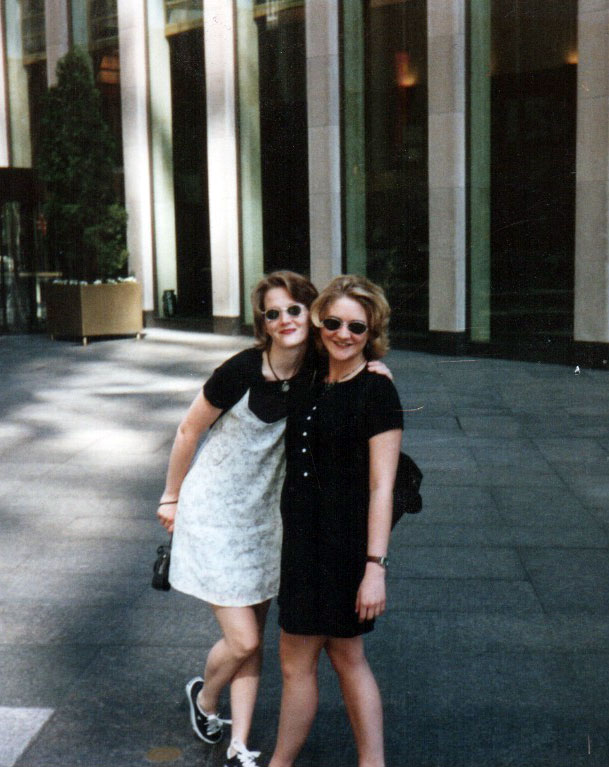 Here we are in New York City trying to look cool! This was sometime in the nineties - maybe 1995 or so?
