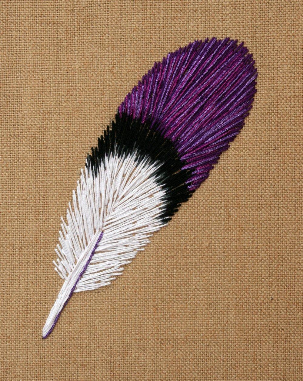 Costa's Hummingbird | embroidery on burlap | 8×10 | $85