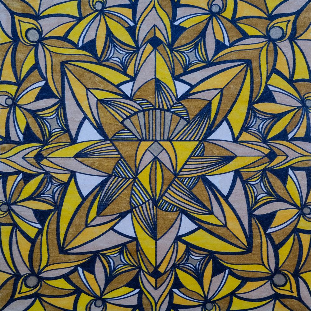 Solar Plexus Chakra  | 12 x 12 | marker on wood