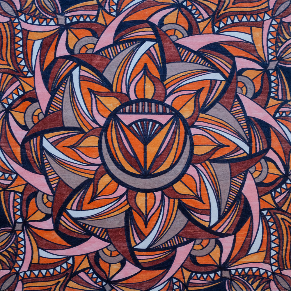 Sacral Chakra |  12 x 12 | marker on wood