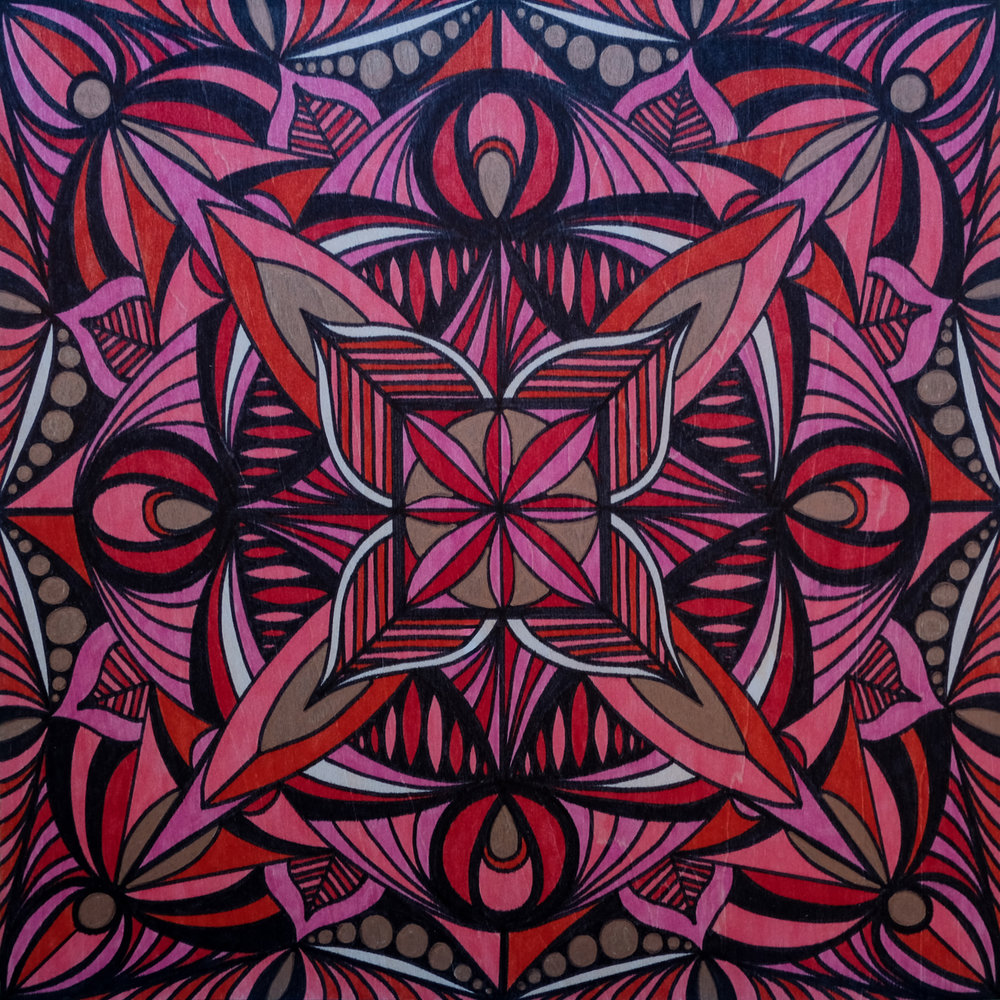 Root Chakra  | 12 x 12 | marker on wood