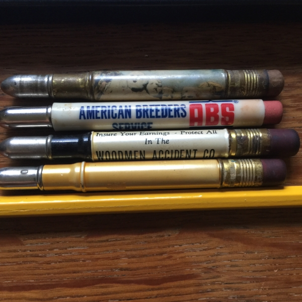 A few of the old bullet pencils in my collection.