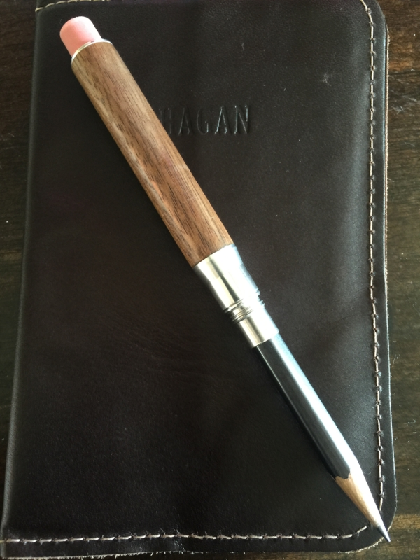 The Heartwood Walnut Timber Twist Pencil.