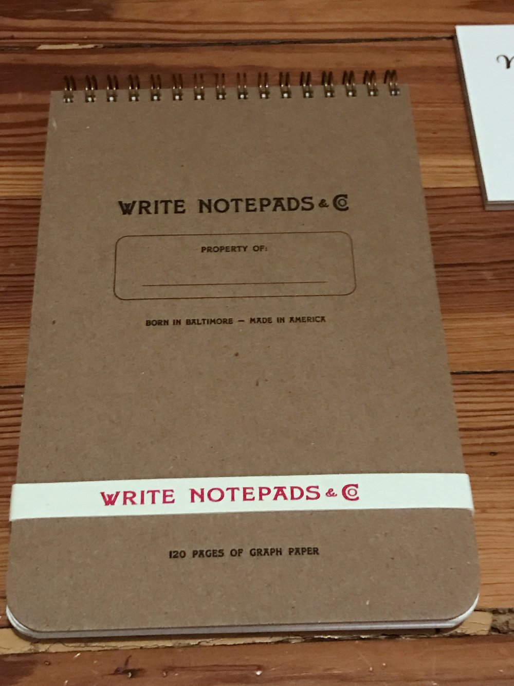 The Write Notepads Steno also comes with a sweet rubber band for keeping your shit together.