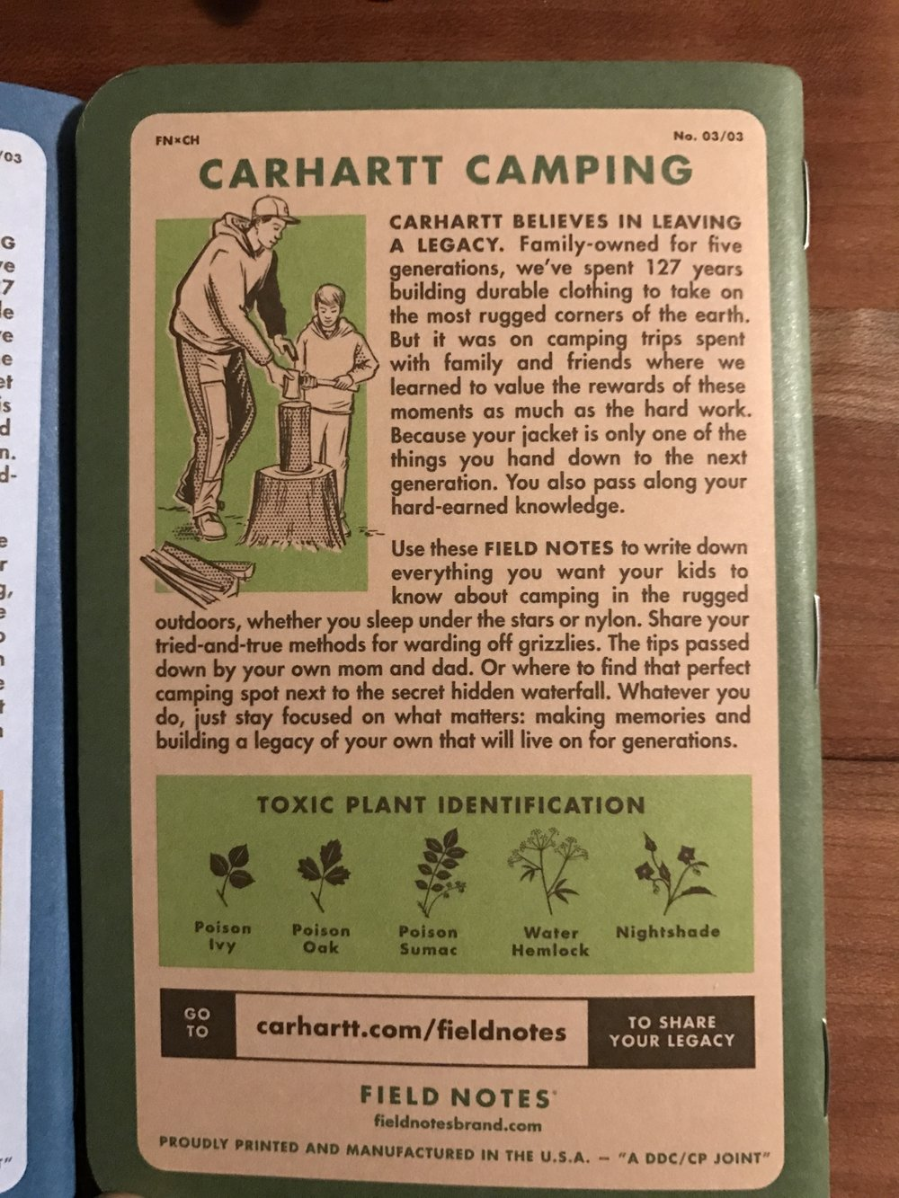 Camping info on the Green book.