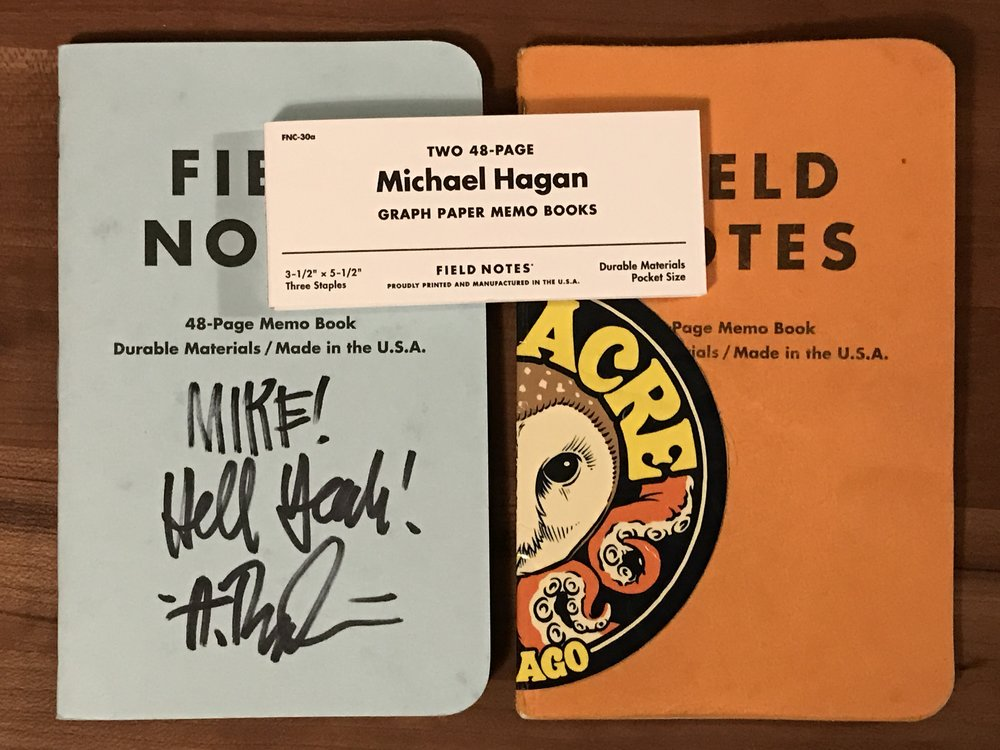 I had to use the orange because when would I ever get to? And why wouldn't I have Draplin sign the blue?