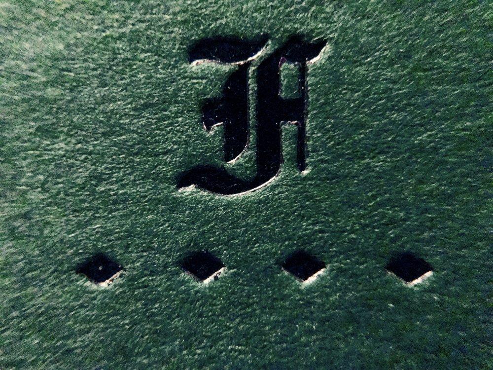 Olde English F logo.