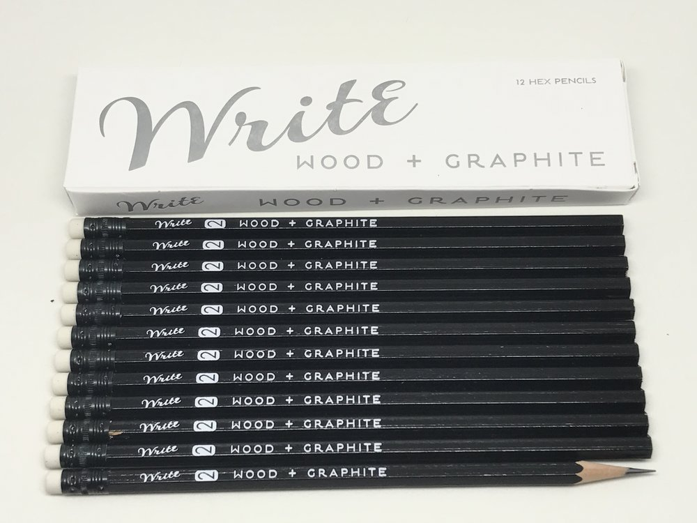 Wood + Graphite (+paint+rubber+clay+aluminum+ink+card stock)