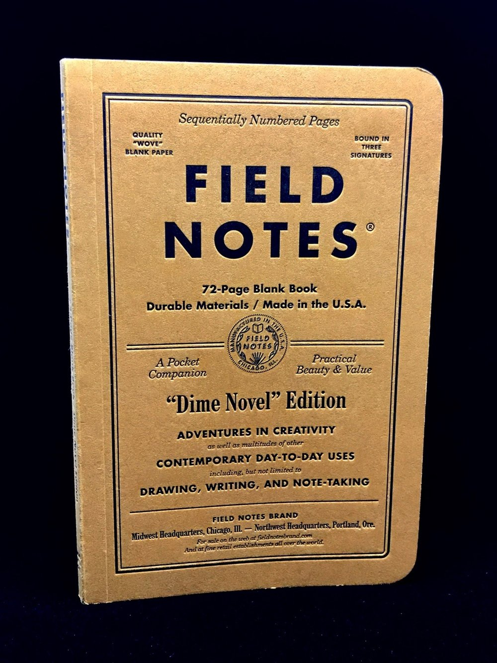Field Notes Dime Novel Review Lead Fast – Field Note