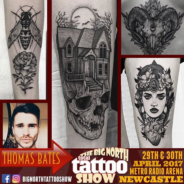 Now Taking bookings for The Big North Tattoo Show. Please email: tombatesart@gmail.com ✌🏻