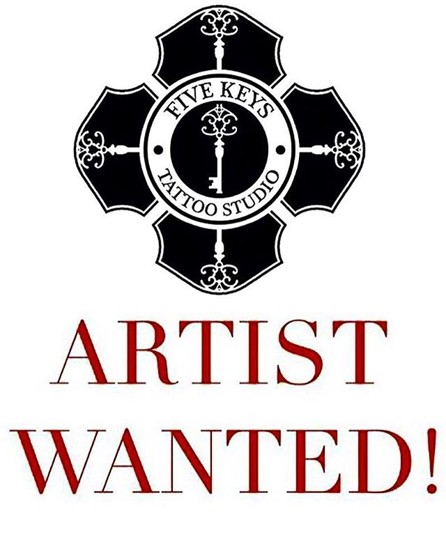 I have opened a second studio and refurbishments on the original one are due to be completed in a couple of weeks. So....we are looking for a couple of new tattoo artists to join @fivekeystattoo  A full time artist and a part time artist working 2-3 days a week. Both studios are in Norwich city centre, so if you are interested please send portfolios and a bit about yourself to me via email. joecarpentertattoo@gmail.com Thanks!