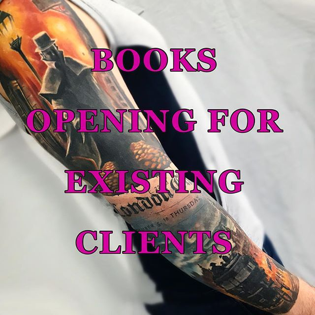 🔥I'll be opening my books THIS WEEKEND for clients with on going work only 🔥This will be so that all you lovely existing clients of mine get first pick of the available dates between Jan-March 2018 before I take on any new clients next month (when my books will be open to all!). If you have NOT already been tattooed by me and want to book in, please wait until next month and look out for updates on here or my Facebook page.  Thanks everyone!