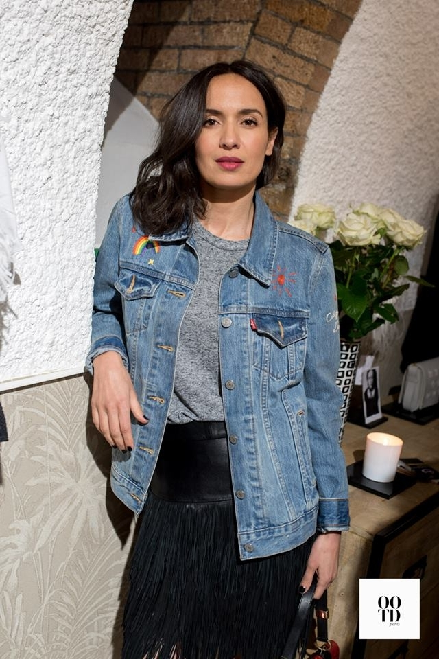 AMELLE CHAHBI    - The French actress attends the FLORIANE FOSSO T shirts launching party