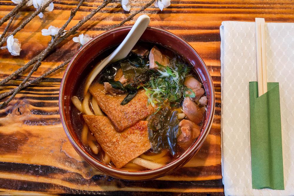 Kitsune Chicken Udon Noodle Soup