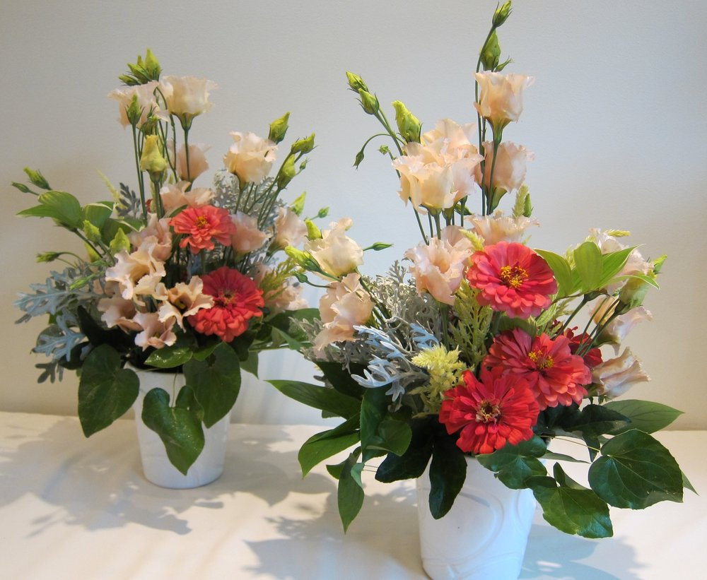 TABLE CENTERPIECES of all sizes and shapes can be custom designed.
