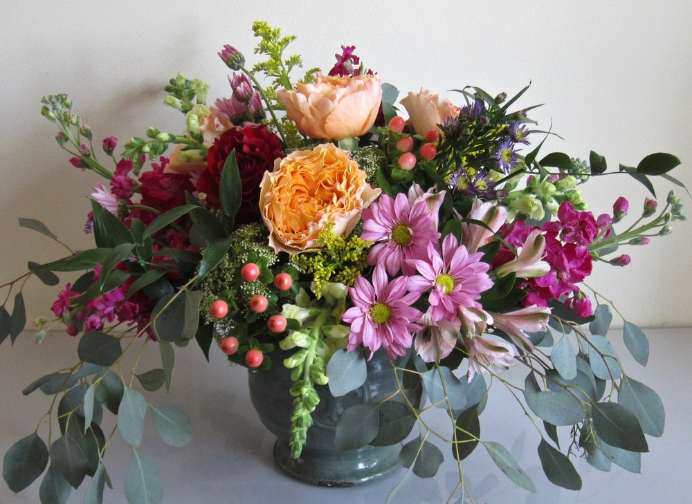 LARGE BESPOKE   Large arrangement in footed urn,  $75 to $105.