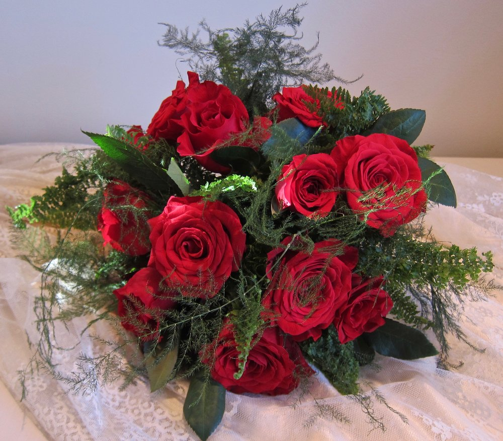 BRIDAL BOUQUETS can be custom designed from small to large and priced according to size and selection of flowers.