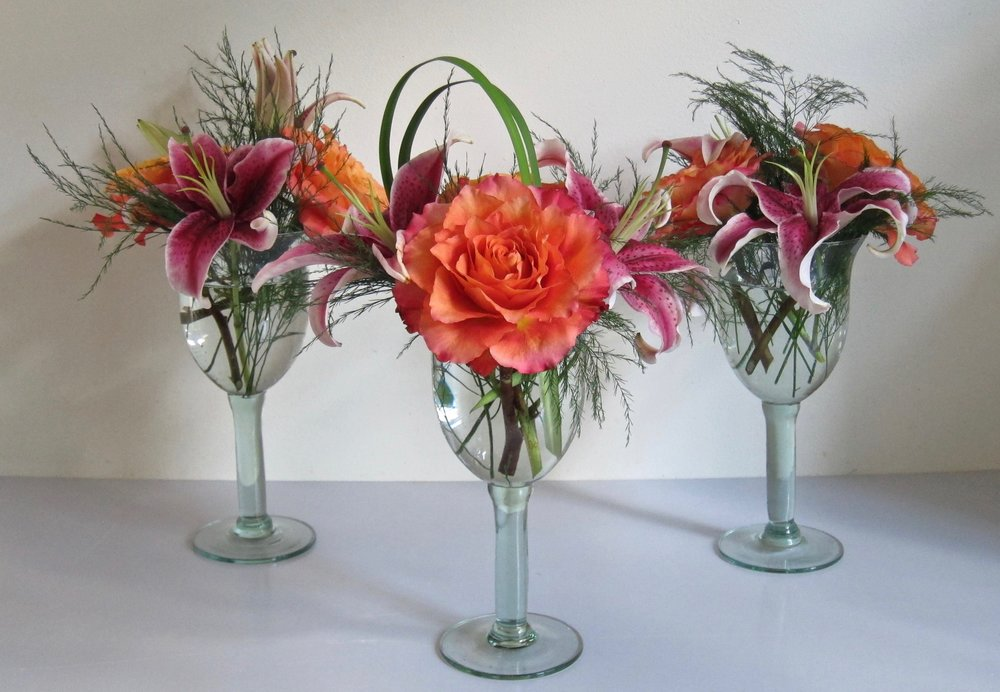 BUD VASES   We can work with you and your container ideas or ours..