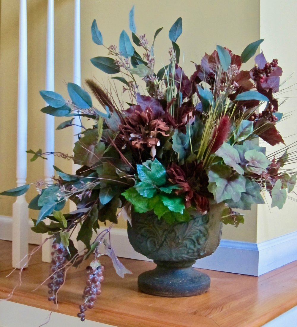 PERMANENT FAUX FLORALS custom designed for your home.