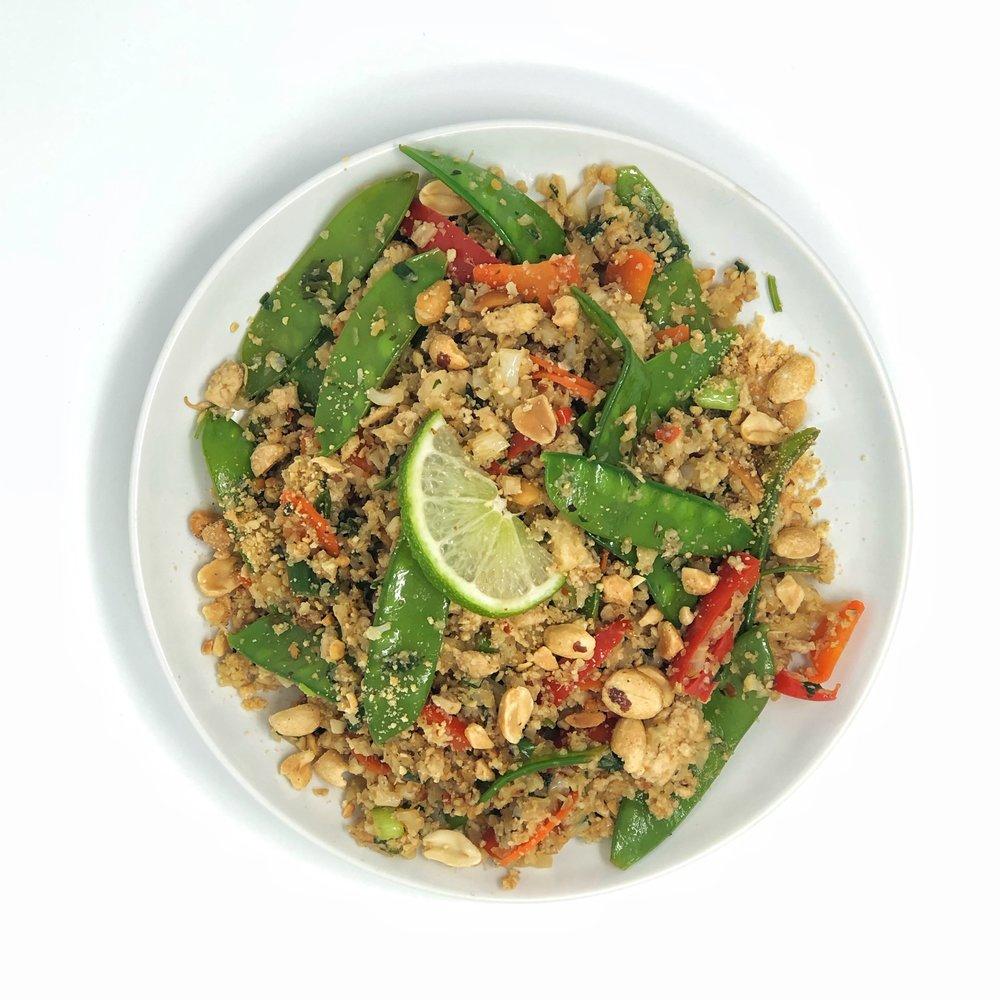 Thai Cauliflower Rice (Plant Based & Gluten Free)