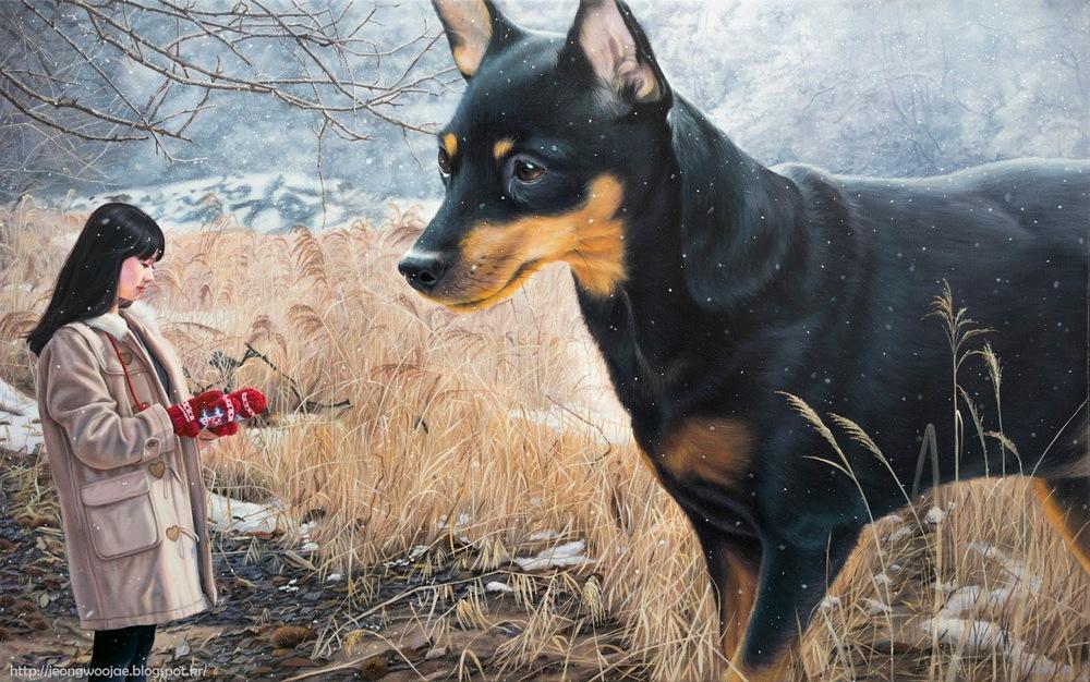 Jeong Woo-jae  Gleaming-Serene mind  33.4x53.0m oil on canvas 2015.jpg
