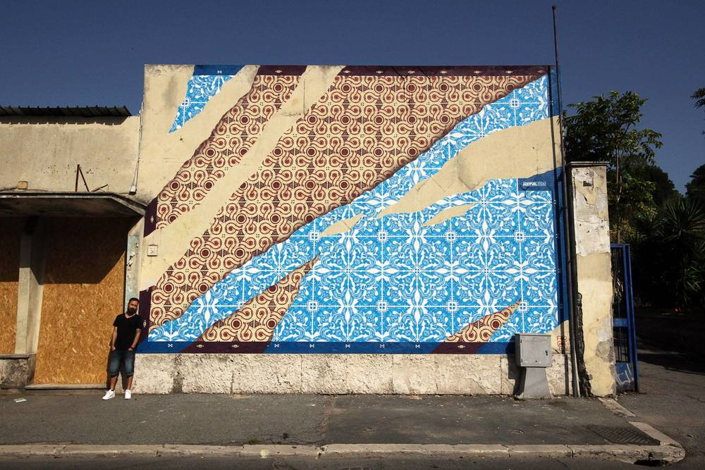 Mural in Rome for 'Forgotten Project'.