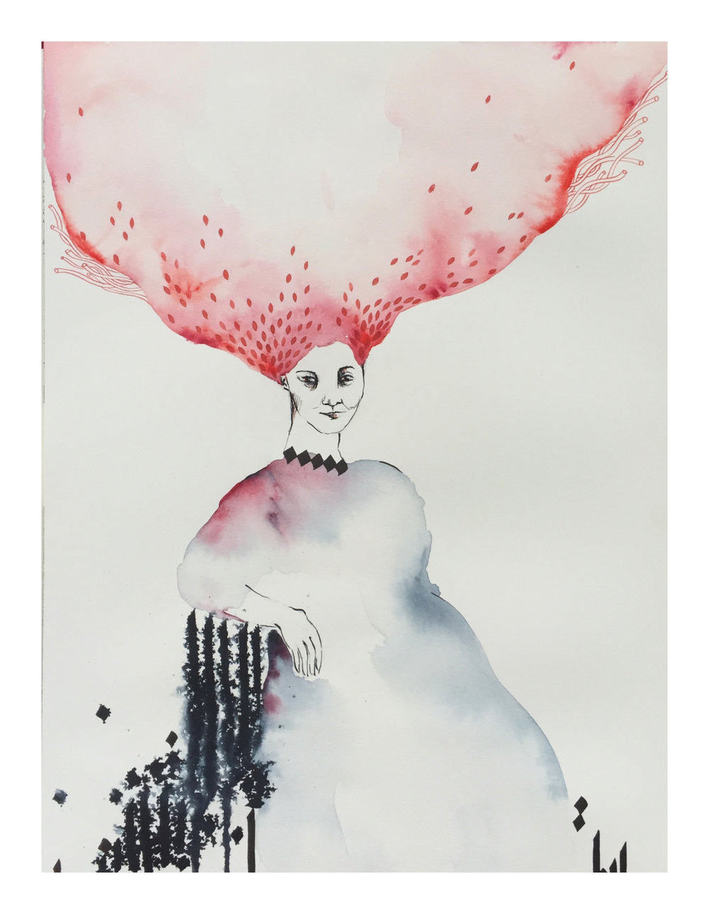 Shilla Shakoori - OnTheBenchOfMemories-16x12-2016