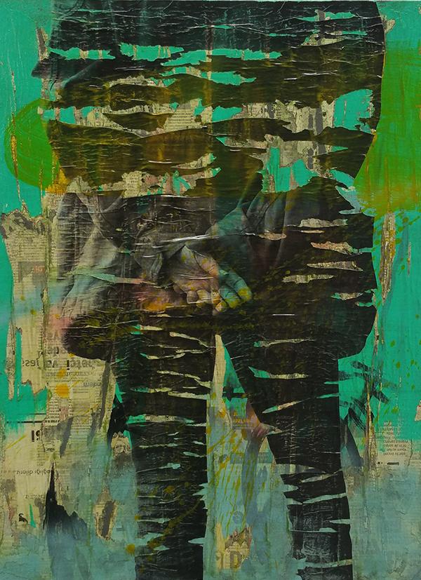 OK16_R07-Olcay Kuş-İsimsiz,2016.Tuval üzerine gazete kağıdı ve akrilik_Untitled, 2016.Newsprint and acrylic on canvas,80x60cm.kucuk.jpg