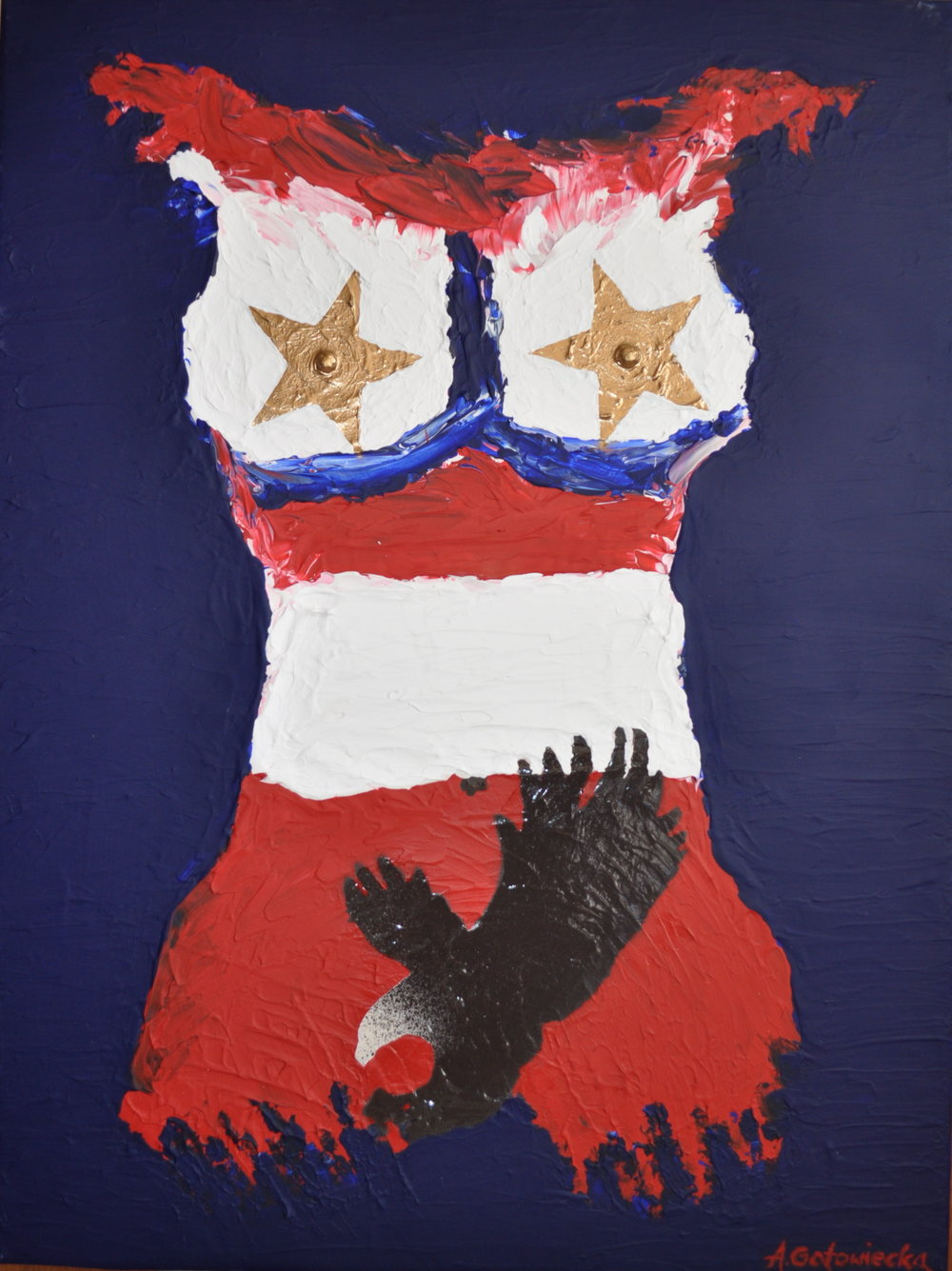 'Ma Philosophie' - AMERICAN WOMAN 60x80cm-2014.JPG