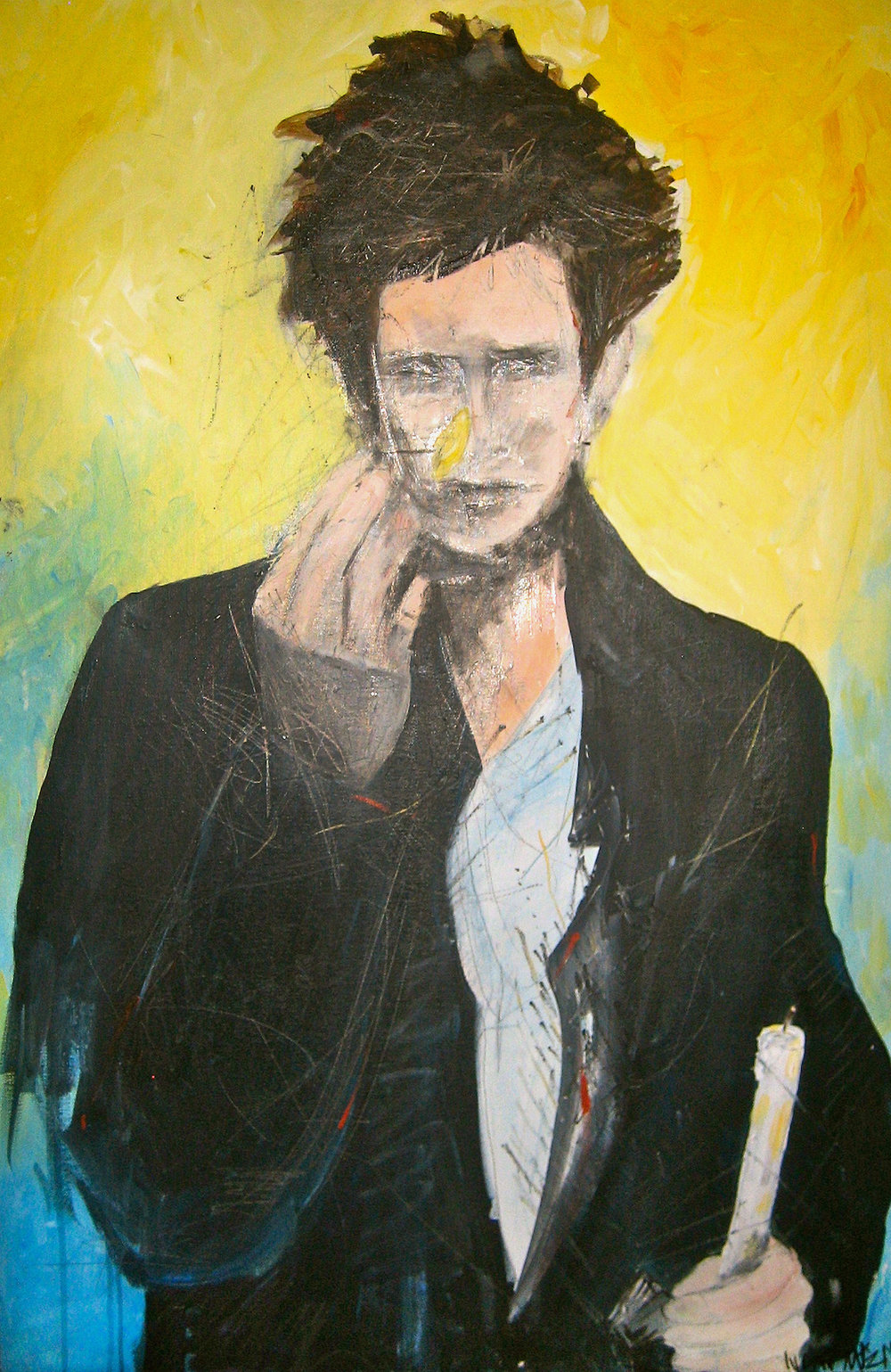 """Jeff Buckley"" Acrylic on Canvas 24""x36"""