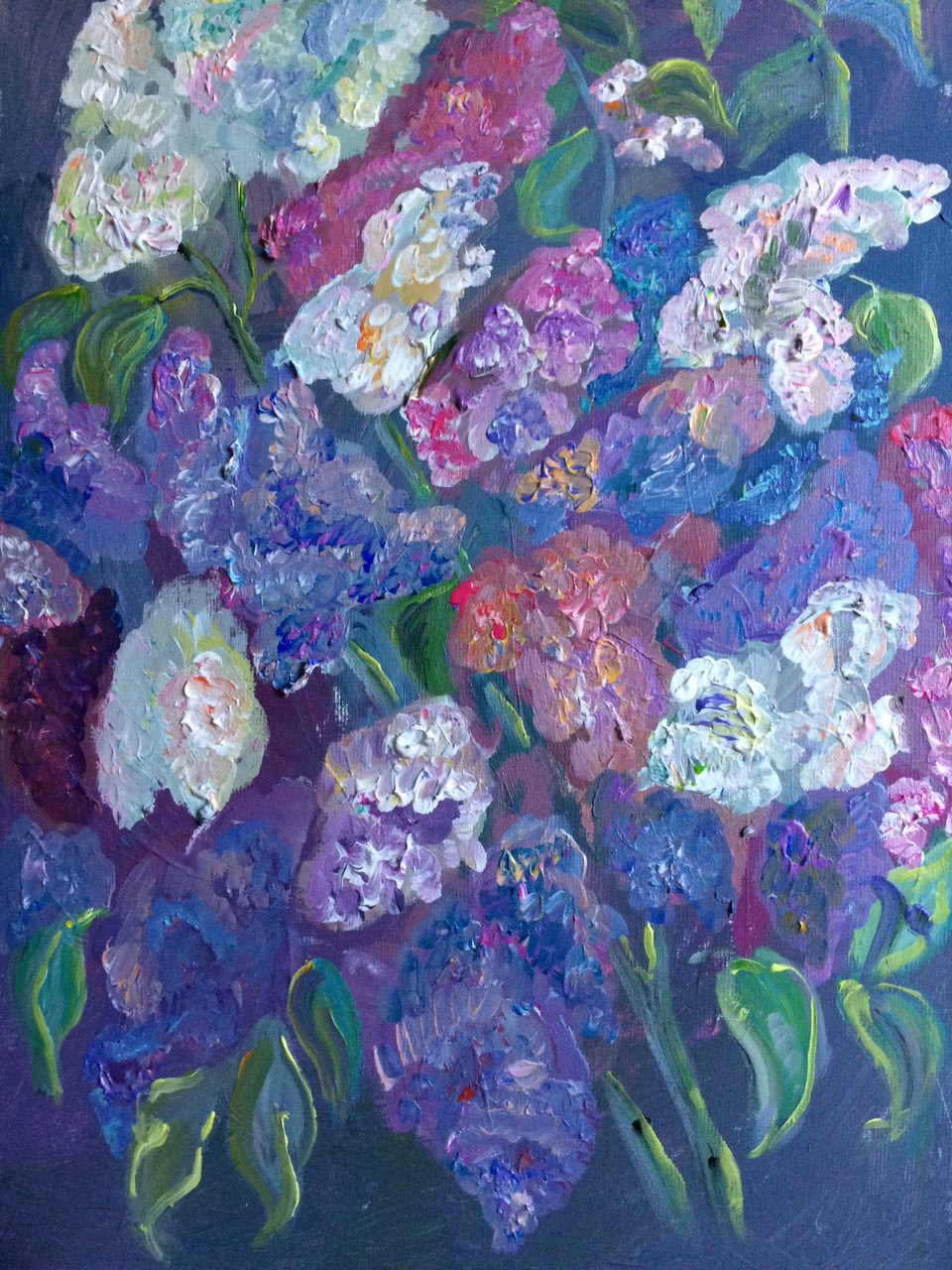 Lilac. Holiday came to us, acrylic, canvas, 50x70, 2017.jpg