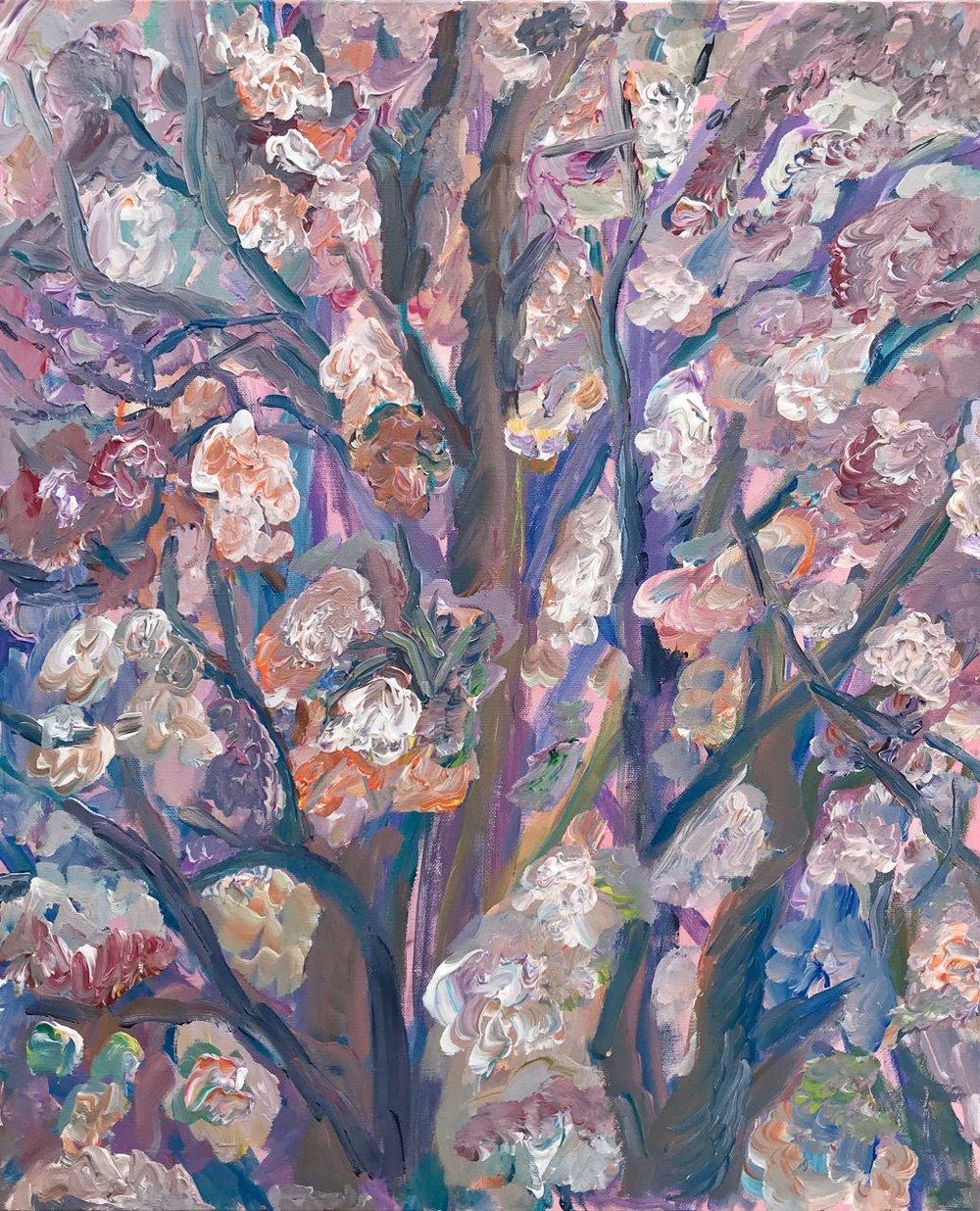 Blooming chestnut, acrylic, canvas, 50x61, 2017.jpg
