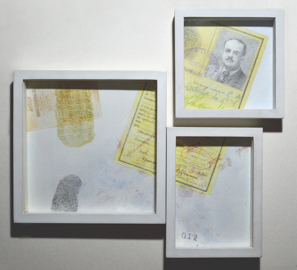 Identity Card, 2010, graphite, watercolor, pen and ink on paper, 15,75 x 17,32 inches, (40 x 44 cm)