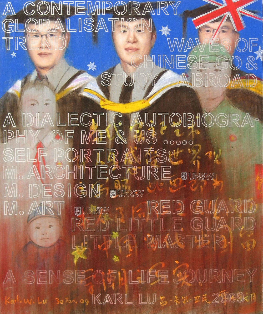 Dialectic Self-Portrait with Auto-biography & Triple Masters (Positive Global Life Series 2008-09)