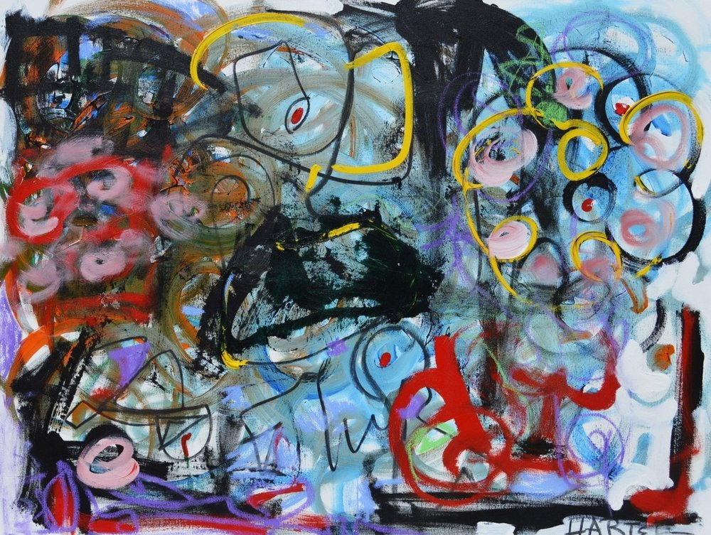 Girl with Flowers mixed media on canvas 30x40 in..jpg