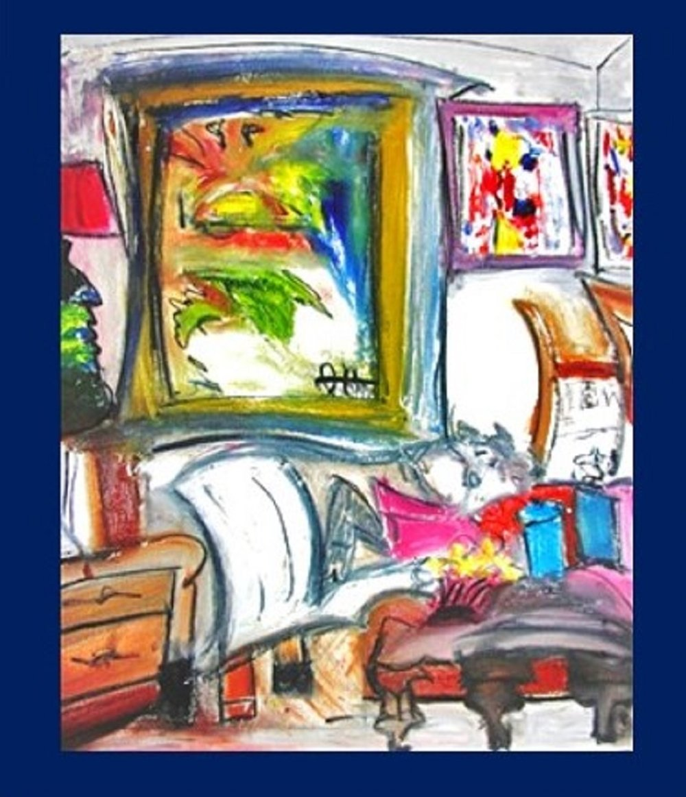 Home in New York oil and charcoal on canvas 20x16 in.jpg