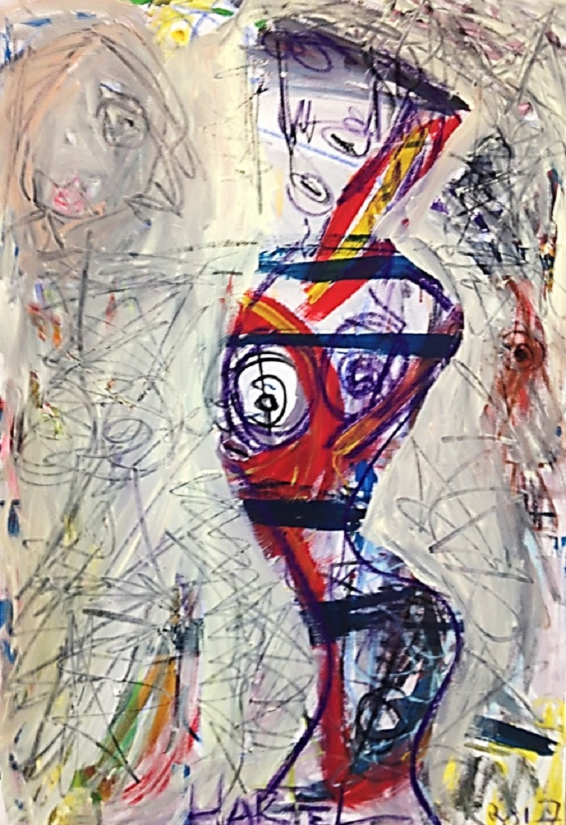 Modern Woman mixed media on canvas 40x30 in..jpg