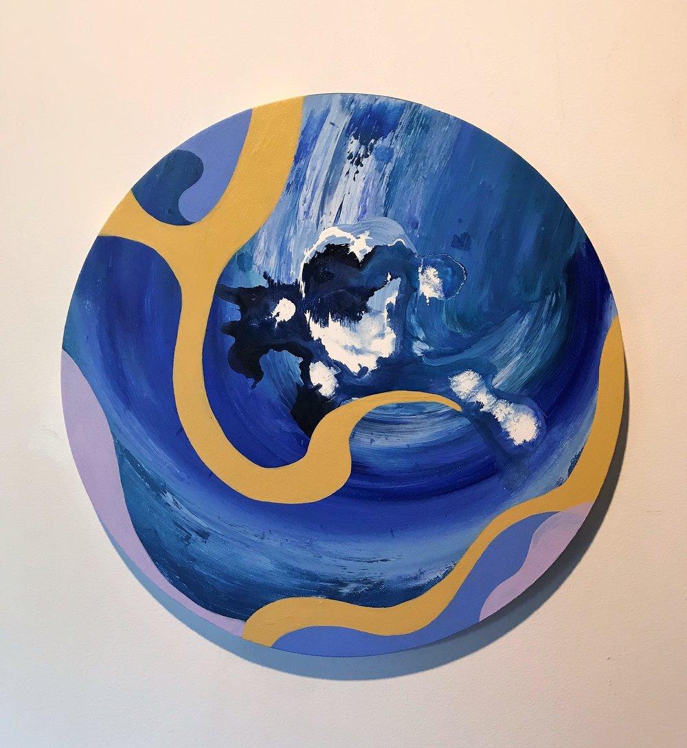 Javier Marten, REEF, acrylic on canvas, 30 cm. diameter, 2017..jpg